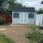 Barn style shed in Medford NY.