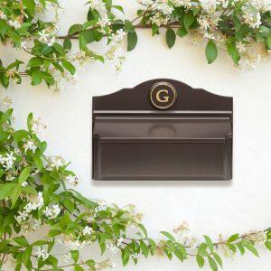 Whitehall Colonial Wall Mailbox Package #3 (Mailbox & Monogram)